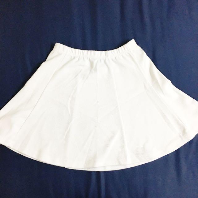 iMmense 白色棉質波浪短裙