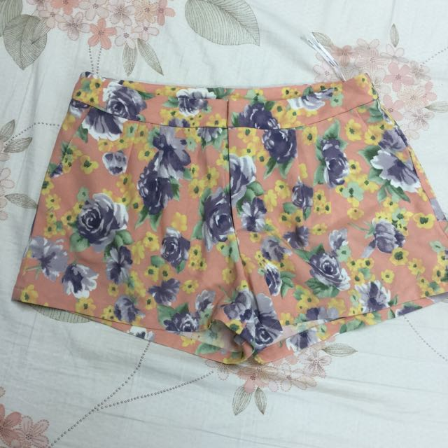 LOVFEE玫瑰花短褲