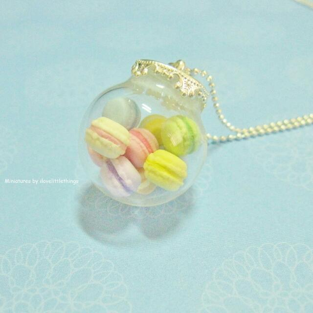 Macarons Glass Globe Necklace Large