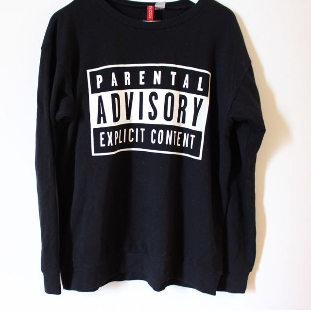 Parental Advisor Black Jumper