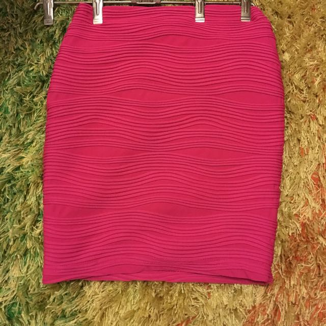 Pink Block Out Skirt