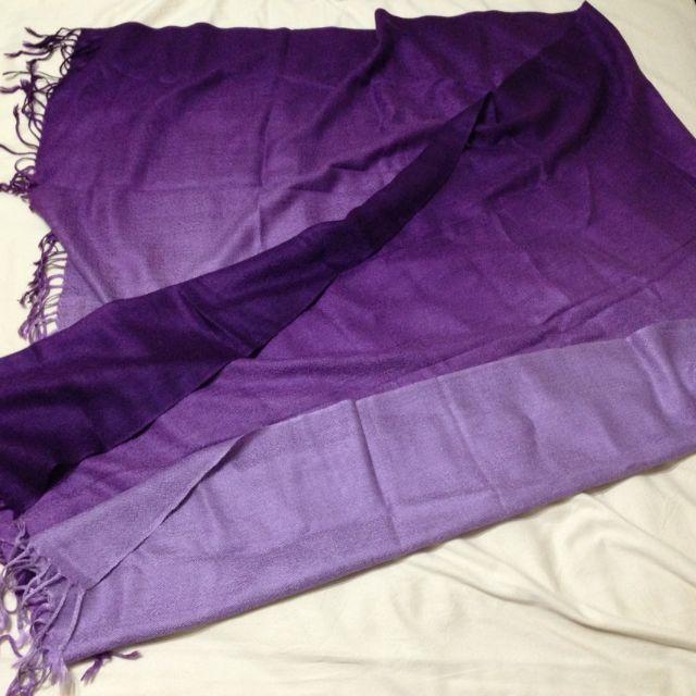 Purple Pashmina Style Shawl