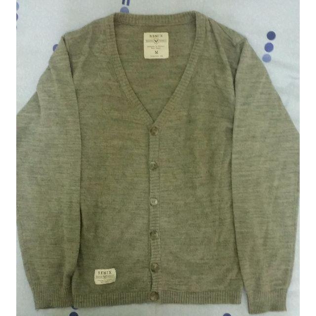 REMIX 格紋針織衫  適合當薄外搭   M號  (灰色)