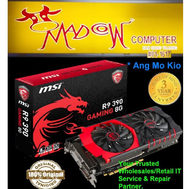 [SSD sg] Cheapest 'MSI R9 390 GAMING 8Gb 1060 MHz / 6100 MHz (OC Mode) New