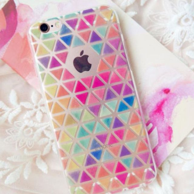 Transparent Triangle Pattern Soft iPhone Case 5S 5C 6 6S PLUS