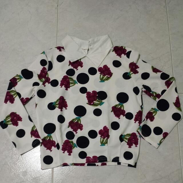 White Floral Long Sleeves