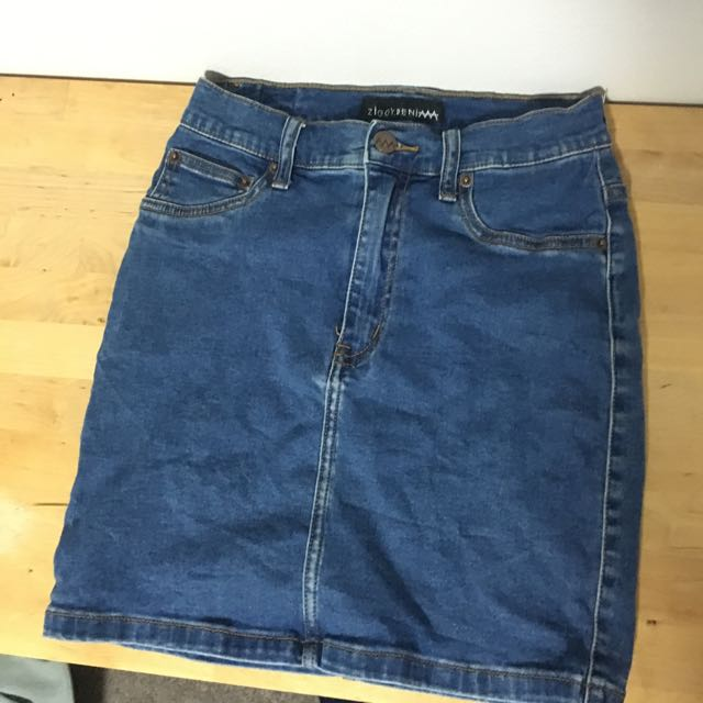 ziggy denim skirt waist size 27 (6-8)