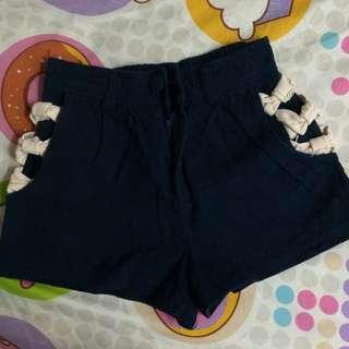 Topshop Inspired Ribbon at Sides Shorts