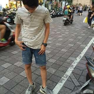 6096淺色牛仔短褲