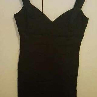 Forever New Black Bandage Dress