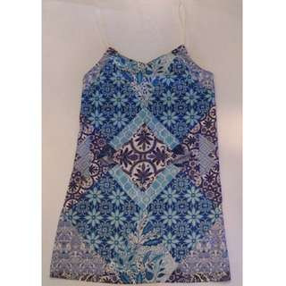 Ally Blue Patterned Dress