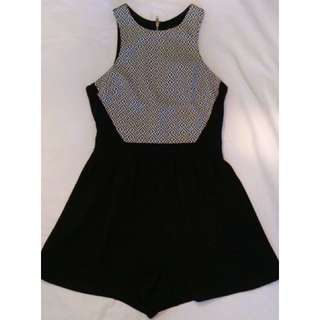 Ally Black and White Playsuit