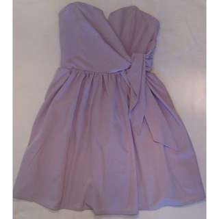 Ally Lavender Strapless Dress