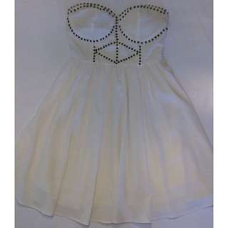 Knight Angel Beaded White Strapless Dress