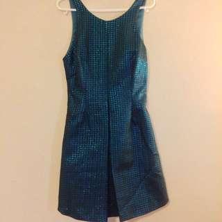 Turquoise Blue Skater Dress