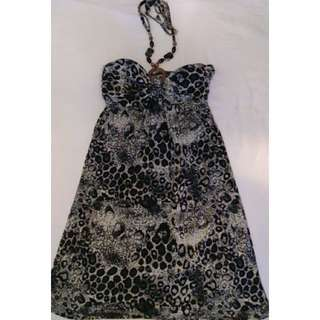 Halterneck Leopard Print Dress