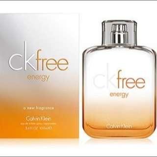 Calvin Klein CK Free Energy男性淡香水 100ml 全新科蒂公司貨