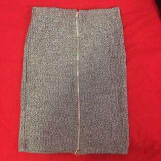 Grey Knit Skirt