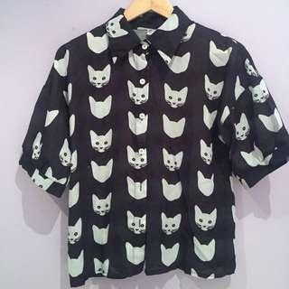 Kitten Button Up Shirt
