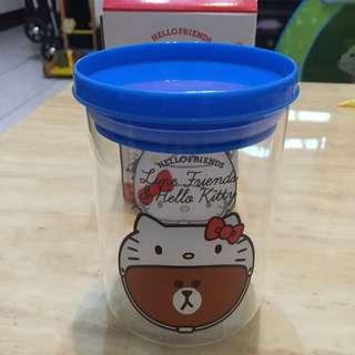 熊大 & Hello Kitty 大頭款(聯名造型耐熱玻璃罐)