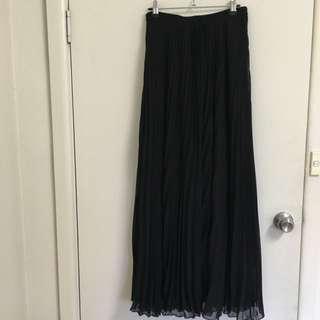 Floor length Pleated Skirt Size 10