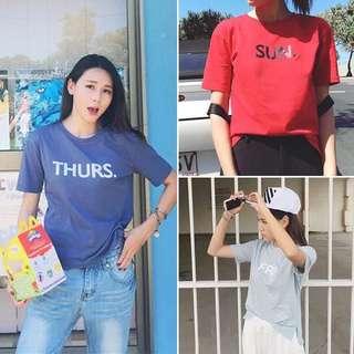 PO Monday To Sunday T Shirt