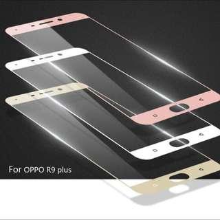 🚚 OPPO R9 / R9 PLUS 9H 超薄弧邊鋼化玻璃貼 玻璃 保護貼 鋼化 玻璃膜