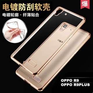 🚚 超質感電鍍 OPPO R9 / R9 Plus手機殼 超薄防摔 電鍍透明新款軟套 超貼TPU材質