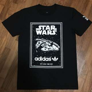 Brand New Black Adidas Star Wars Millenium Falcon Non Authentic Replica Tee