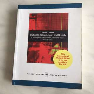Business, Government And Society SMU BGS Textbook