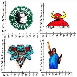 星際巴克大戰  耶穌滑板 Toy Machine  Mishka 防水貼紙