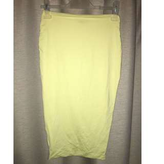 Kookai Scuba Skirt - Yellow