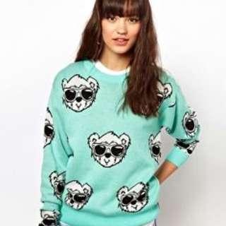 Joyrich Bear Crew Neck Sweater