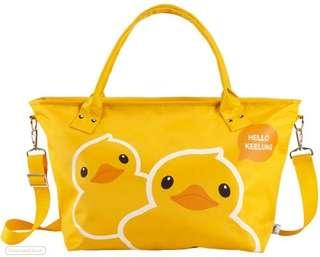 基隆 黃色小鴨 限量 水餃 旅行包 登機包 超大容量 肩背 手提