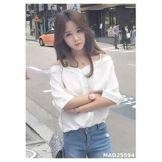 Smile Love 日韓館  MI-夏季新款韓版隨性美必入吊帶襯衫  2色