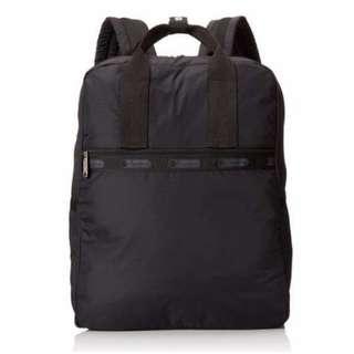 Lesportsac 3268 5922 全新專櫃正品 Urban 新款大雙肩後背包 ~經典素面黑 現貨(vv包)