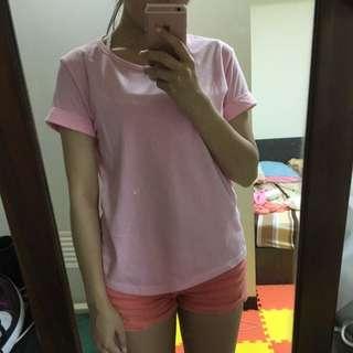 捲袖粉色素T