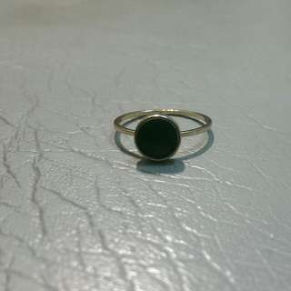 (含郵)黑色圓形平面戒指