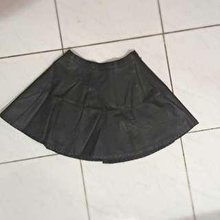 F21 Leather Skirt // Rok Kulit