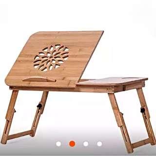 (全新含運)天然環保竹製床上桌電腦桌懶人書桌