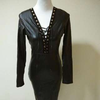 Black Bodycon With Details