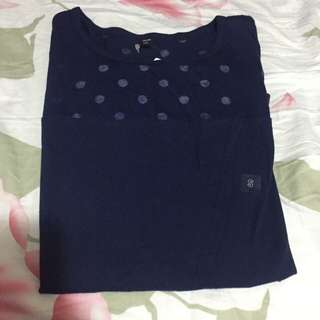 Uniqlo Polka Dot See Through Tank Top 圓圏透波點背心