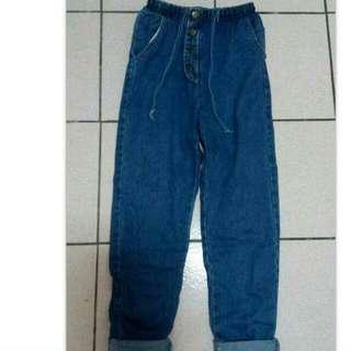 男友褲(深藍)寬鬆