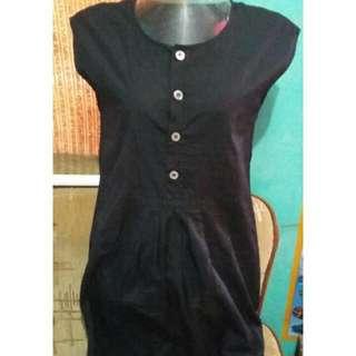 Black Buttoned Dress