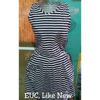 Striped Dress With Side Pockets