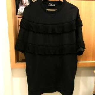 香港品牌JDC 黑色流蘇造型鏤空連身群