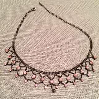粉紅小鑽項鍊