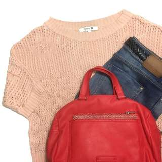 Forever 21 peach knit top