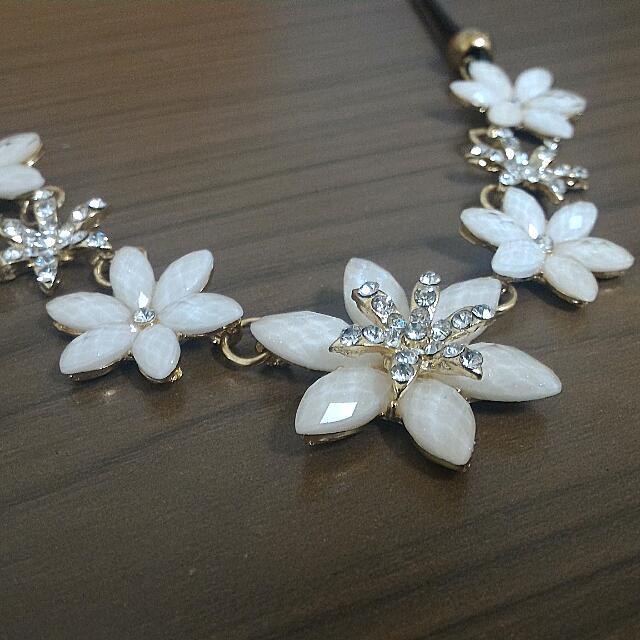 時尚花朵項鍊
