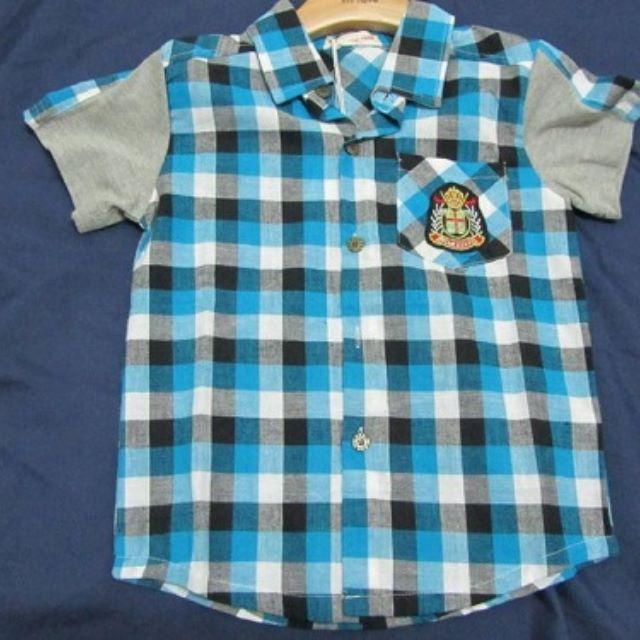 男童格子襯衫